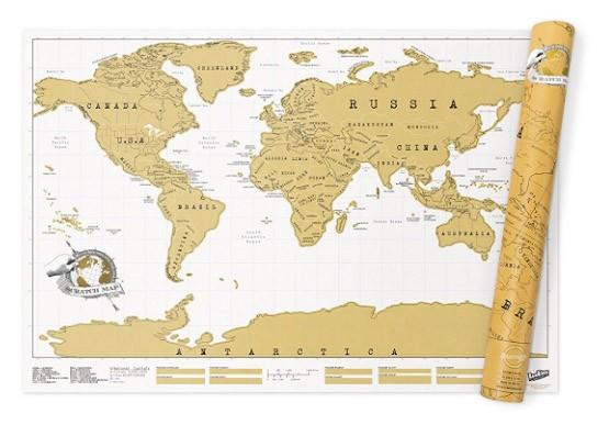 Mappa Del Mondo Da Grattare 82.5 X 59.4 Cm