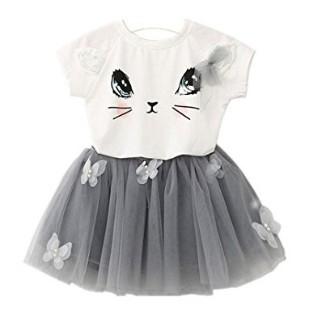 Maglietta Con Gattino Per Bambina