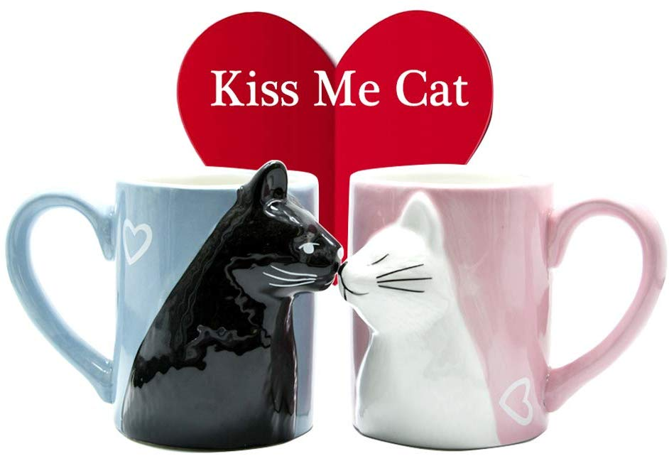 Set Di Tazze Da Tè In Ceramica Con Gatti