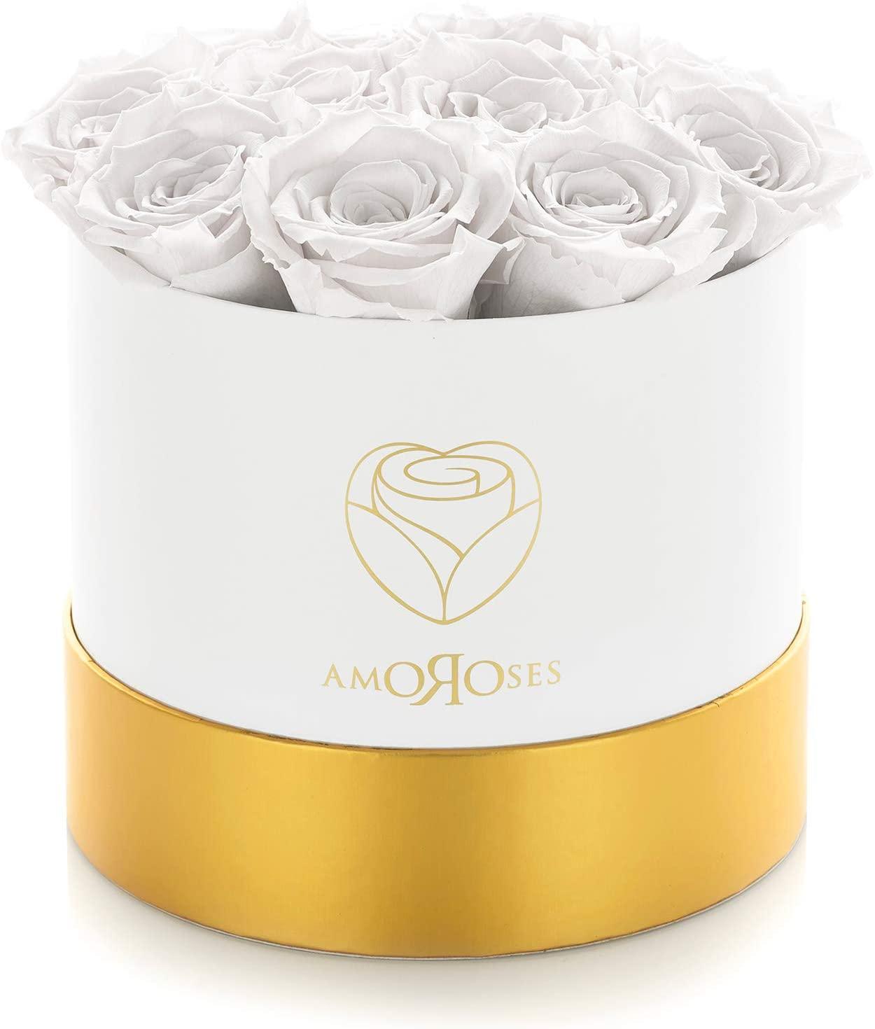 Scatola Con 12 Rose Stabilizzate