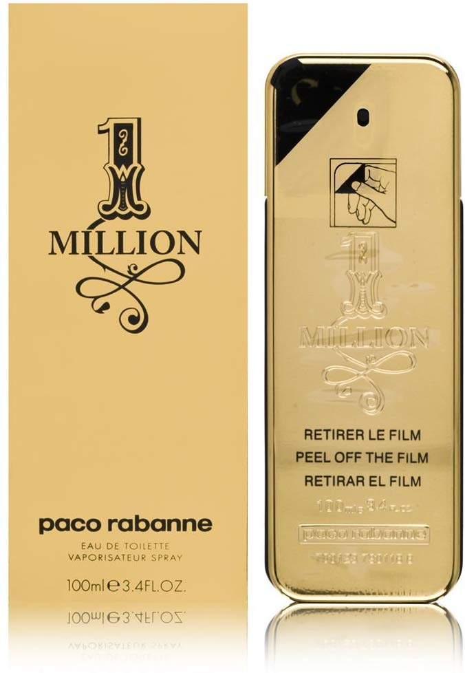 Profumo Paco Rabanne 1 Million Eau De Toilette, Uomo, 100 Ml