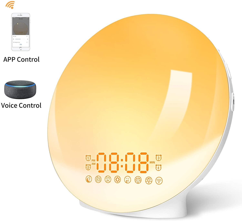 Lampada Da Comodino Radiosveglia Controllo Vocale Smart