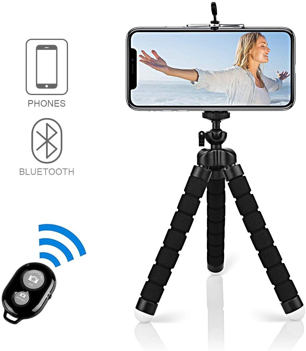 Portatile Treppiede Smartphone Con Telecomando Bluetooth