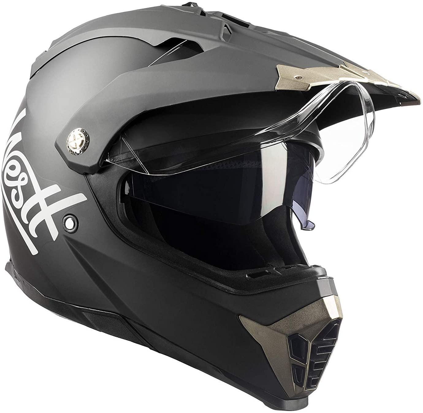 Casco Motocross Integrale Nero Opaco Doppia Visiera