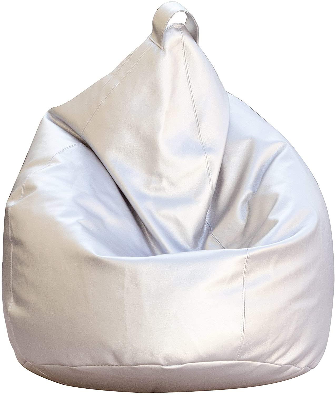 Poltrona A Sacco, Ecopelle, Argento, 70 X 110 Cm