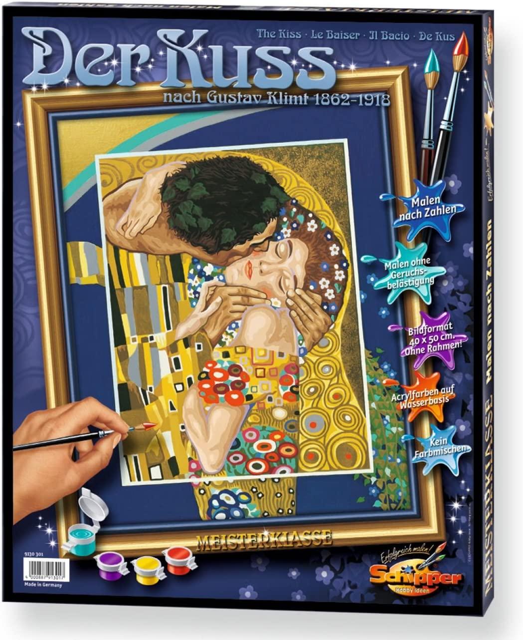 Colorare Opere D'arte Coi Numeri, Il Bacio, 40×50 Cm