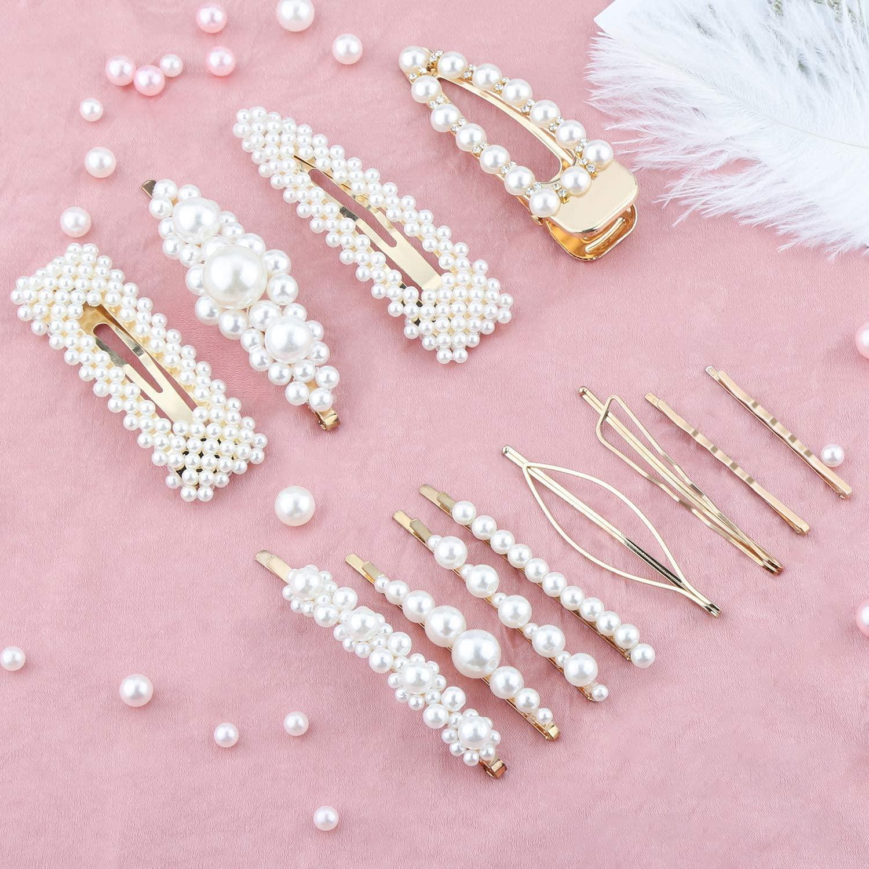 Confezione Mollette E Forcine Con Perle Per Capelli