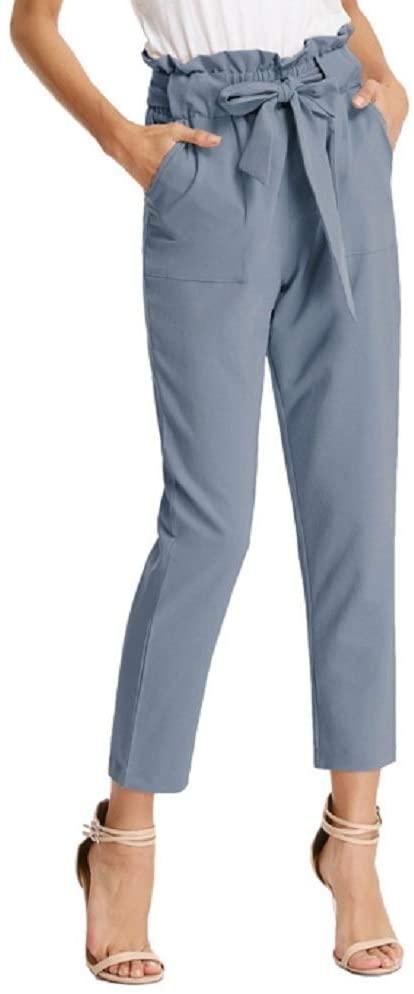 Pantaloni Donna Eleganti A Vita Alta
