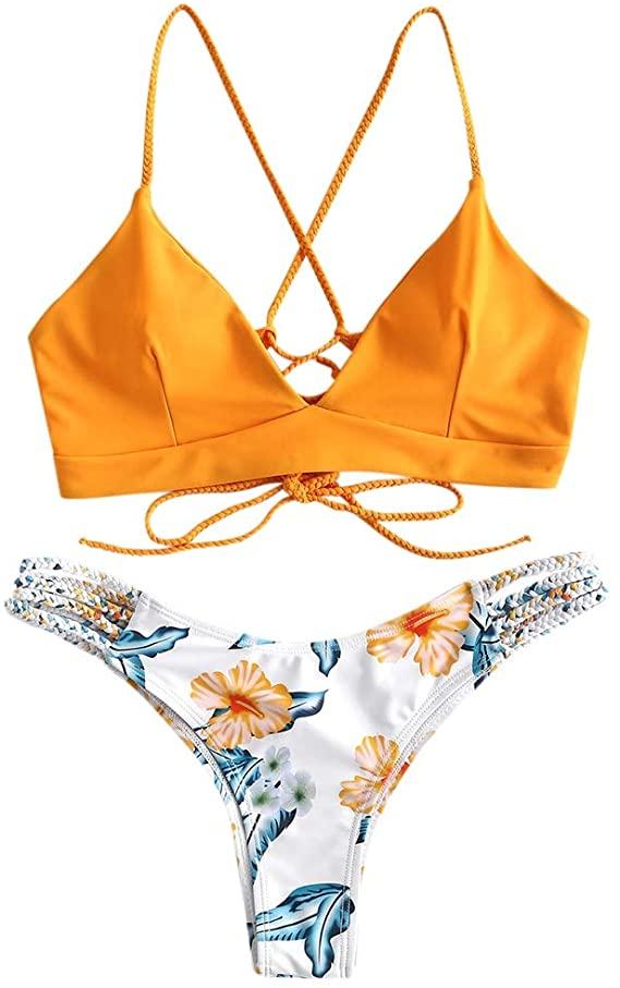 Costume Da Bagno Bikini Intrecciato Donna