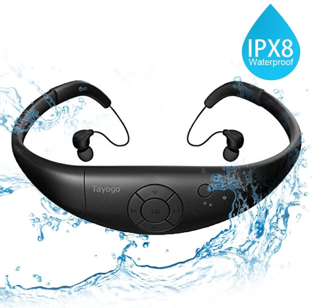 Lettore MP3 Subacqueo Cuffie Nuoto Auricolari Piscina 8GB