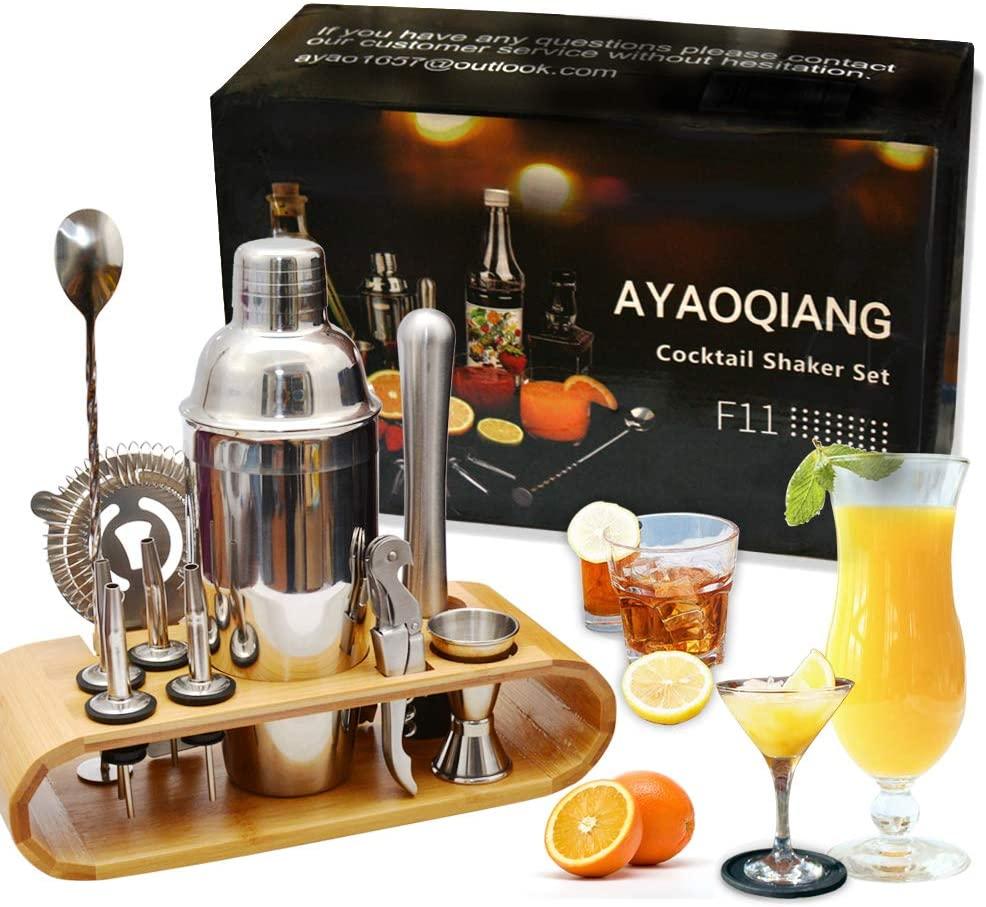 Kit Cocktail Shaker Bar In Acciaio Inox – Set Di 12 Pezzi