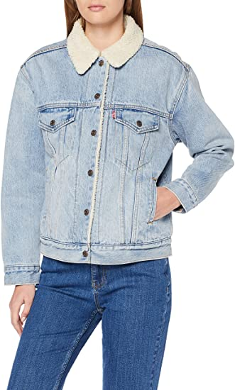 Levi's Giacca In Jeans Con Pelo Donna