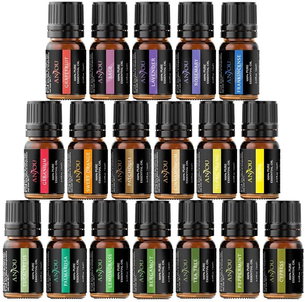 Oli Essenziali 18 X 5ml Per Diffusore, Umidificatore, Aromaterapia, Cura Dei Capelli