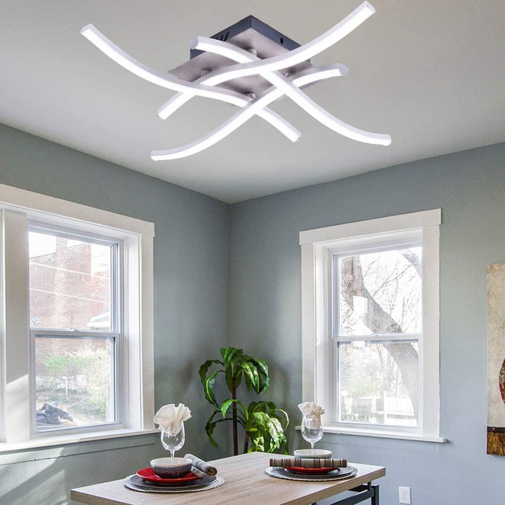 Plafoniera A LED Con 4 Pezzi Di Luce Ondulata