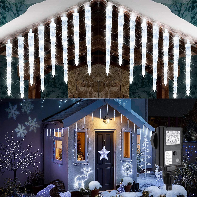 Luci Da Esterno Natale A LED Con 20 Ghiaccioli