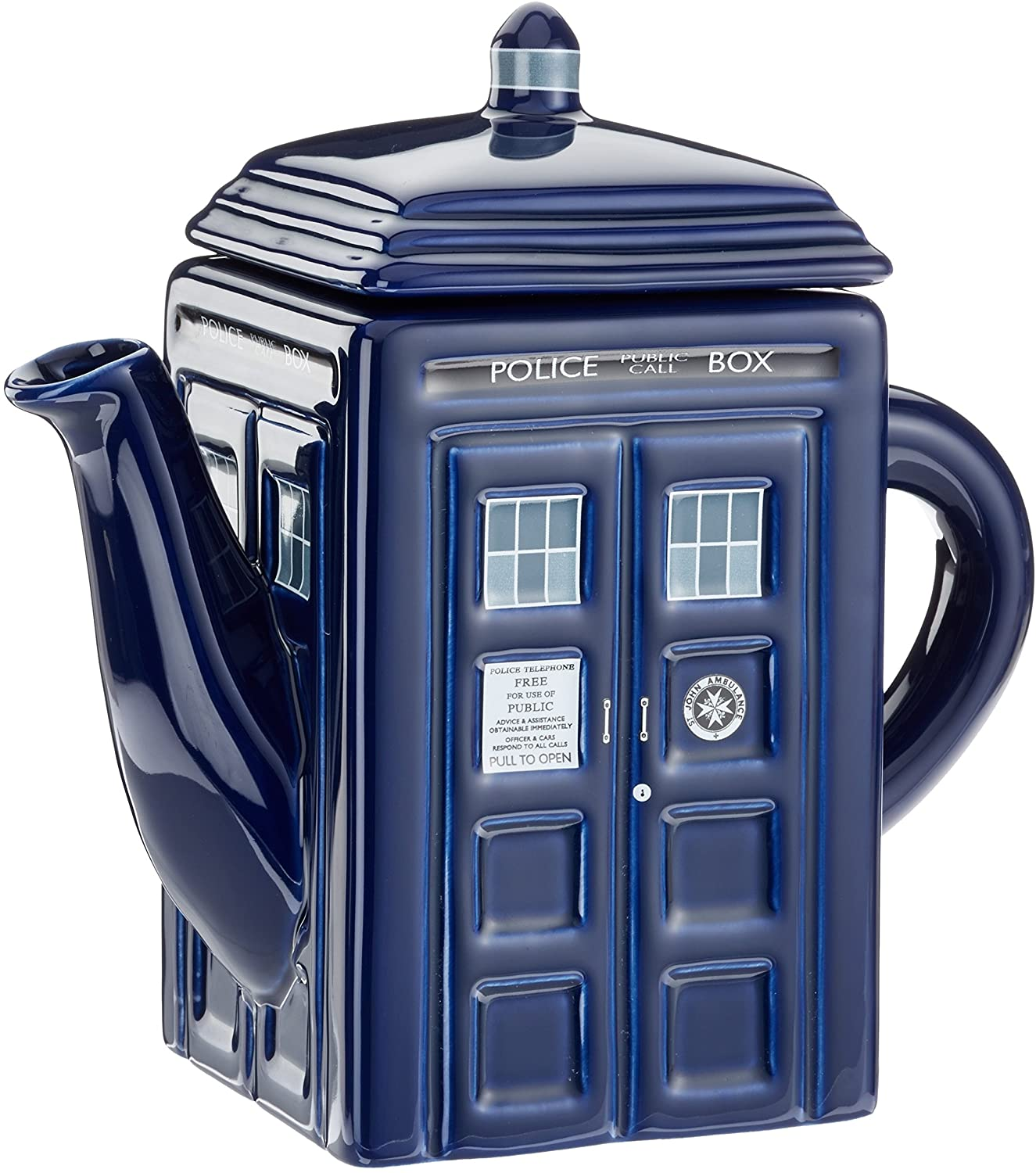Dr Who DR182 – Dr Who Tardis, Teiera In Ceramica, Capacità: 750ml