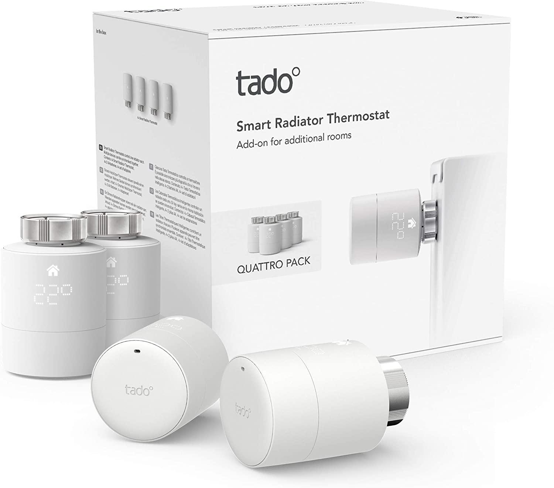 Testa Termostatica Smart, Quattro Pack, Gestione Intelligente Del Riscaldamento
