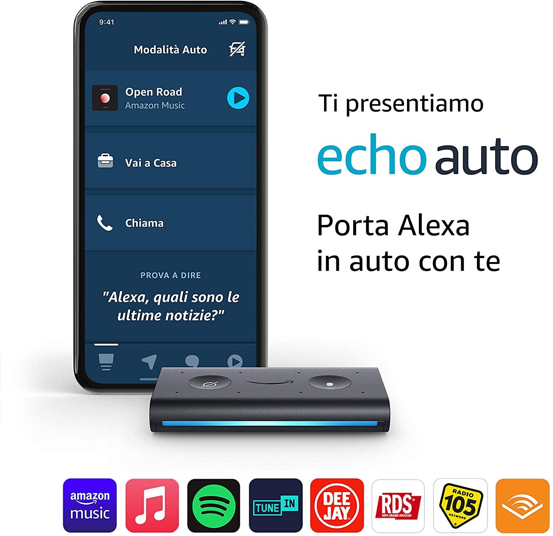 Echo Auto – Porta Alexa In Auto Con Te
