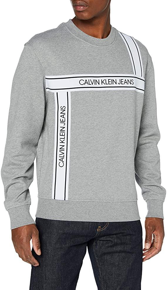 Calvin Klein Logo Tape Fashion Crew Neck Maglione Uomo