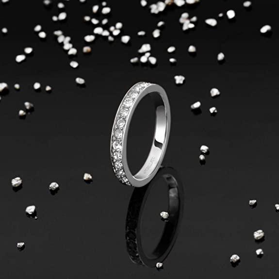 Morellato Anello Da Donna, Collezione Love Rings, In Acciaio E Cristalli – SNA41018