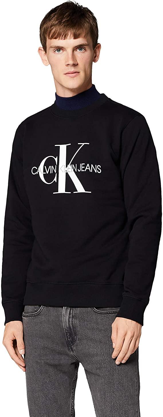 Calvin Klein Iconic Monogram Crewneck Felpa Uomo