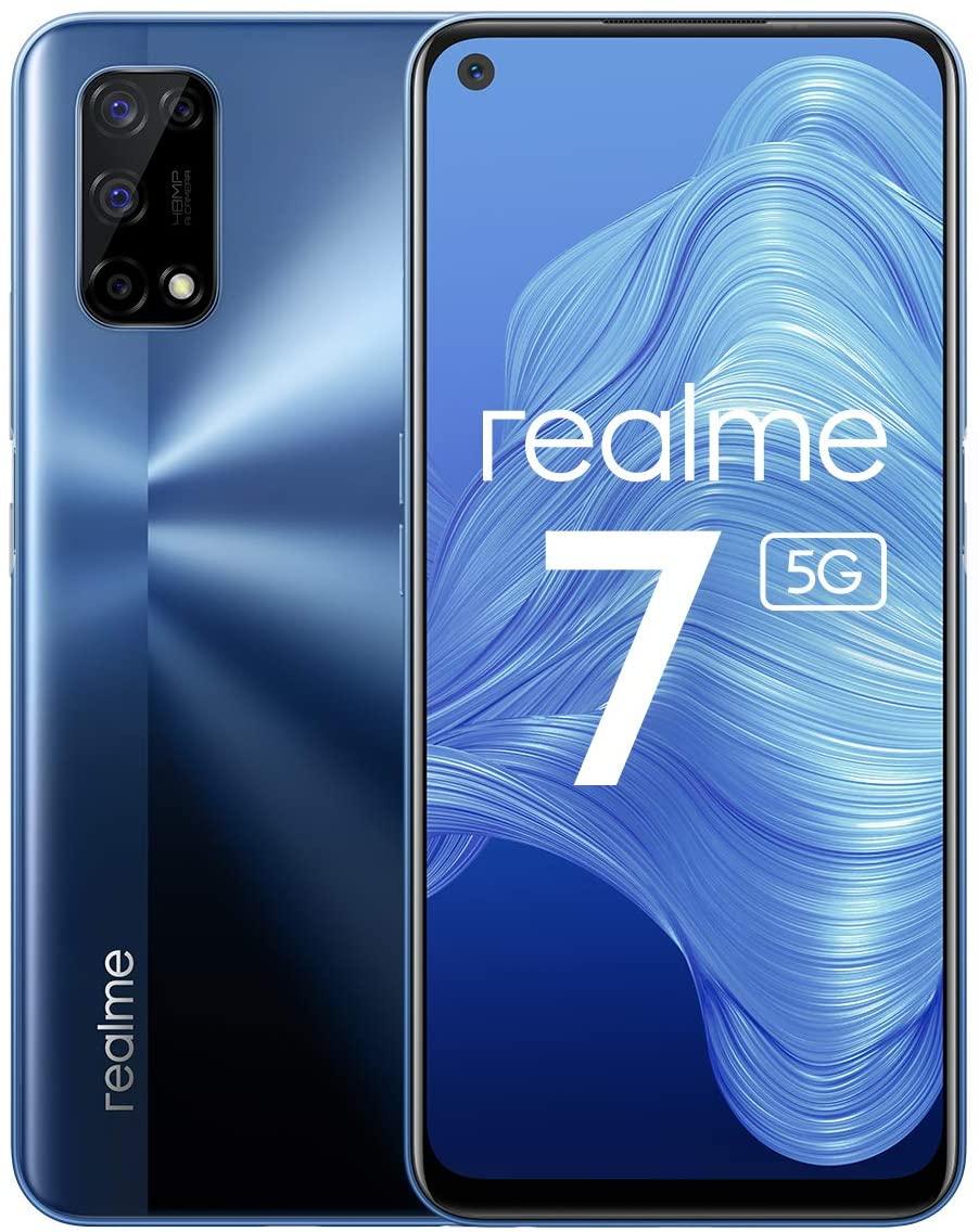 Realme 7 5G Smartphone, Display Ultra Fluido A 120Hz, 48MP+16MP