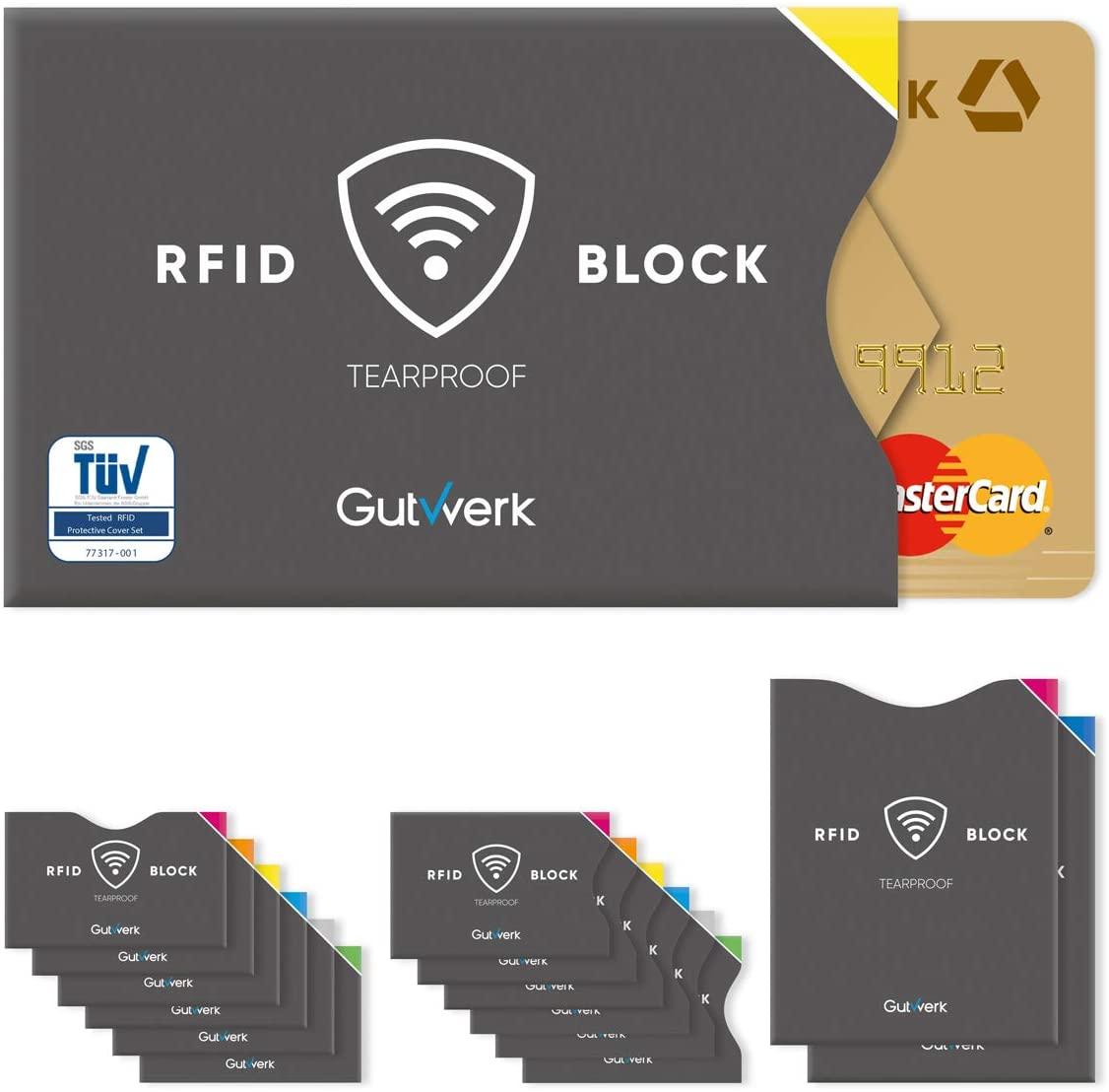 Blocco RFID | Custodia Protettiva NFC Carte Di Credito, Bancomat, Carta D'Identità Elettronica, Passaporto