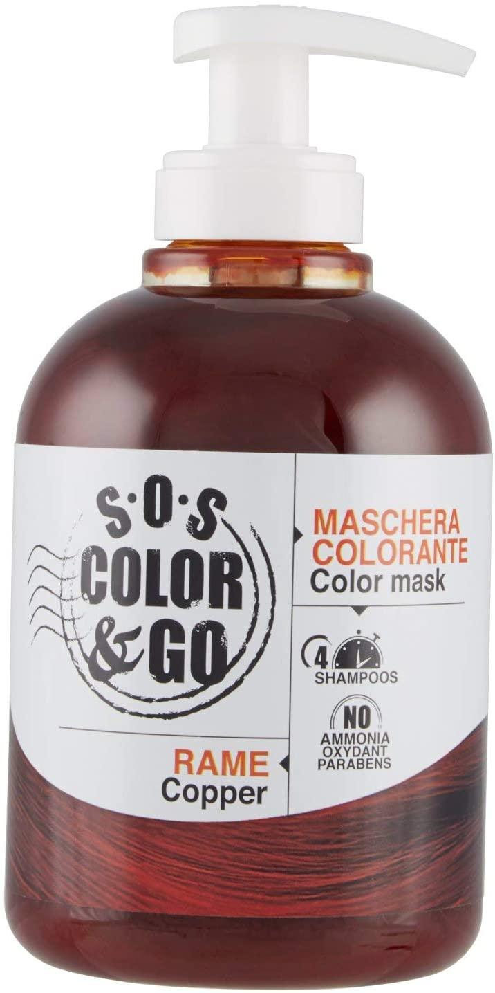 S.O.S Color & Go Maschera Colorante Capelli Riflessante E Ravvivante, 300ml