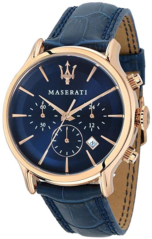 Orologio Da Uomo Maserati, Collezione Epoca, Movimento Al Quarzo, Cronografo, In Acciaio
