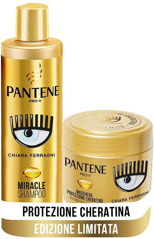 Pantene Pro-V By CHIARA FERRAGNI Miracle Shampoo Protezione Cheratina + Maschera Per Capelli Danneggiati