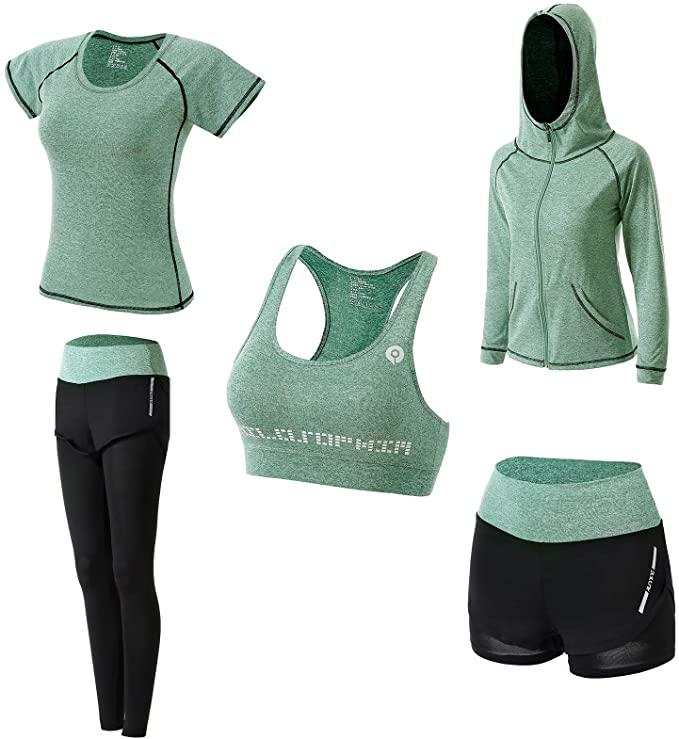 Abbigliamento Sportivo Da Donna Set Da 5 Pezzi