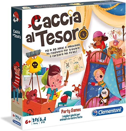 Clementoni- Party Games-Caccia Al Tesoro Gioco Da Tavolo