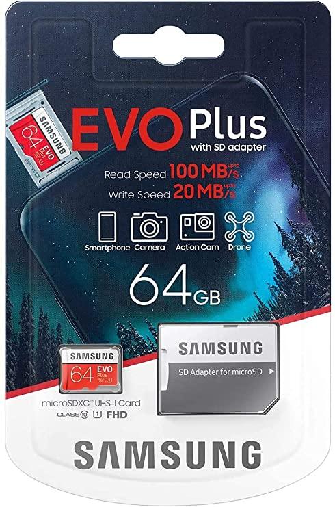 SAMSUNG Evo Plus 2020 Memoria Flash Da 64 GB Micro SD XC